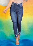 Calça Jeans Push Up Cigarrete com Zíper Sawary