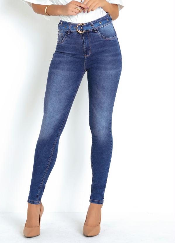 Calça (Jeans) Sawary Cintura Intermediária e Cinto