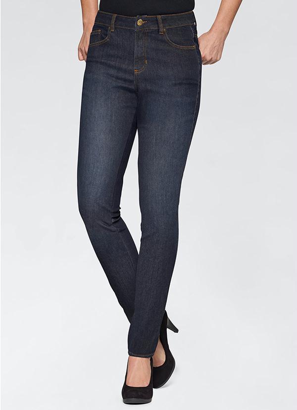 Calça Jeans Skinny (Azul Escuro)