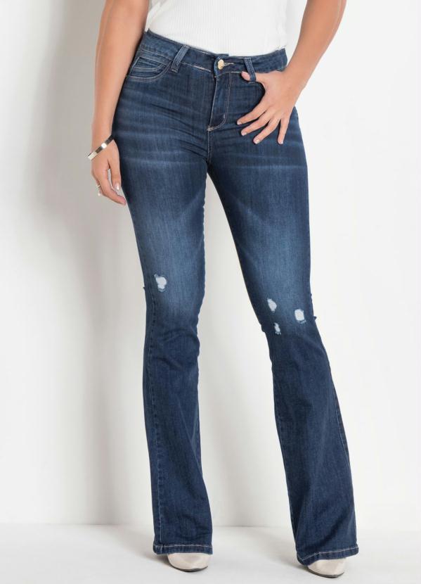 Calça Sawary Flare Enchimento no Bumbum (Jeans)