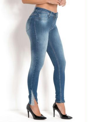 Calça Sawary Hot Pant com Strass (Jeans)