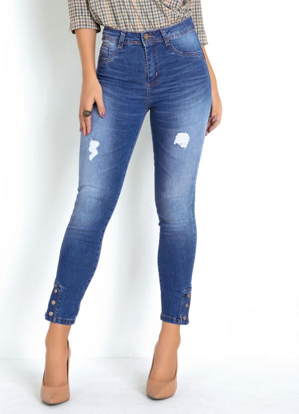 Calça Sawary (Jeans) Hot Pants com Botões