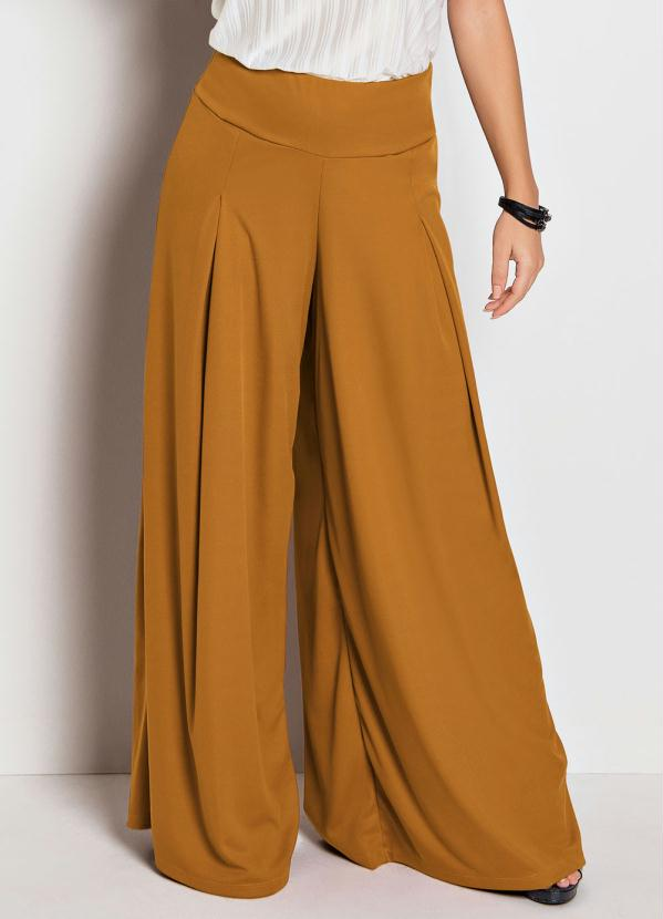 Calça Pantalona (Caramelo)