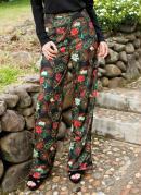 Calça Pantalona Estampa Paisley com Faixa