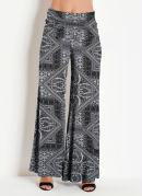 Calça Pantalona Paisley Cinza