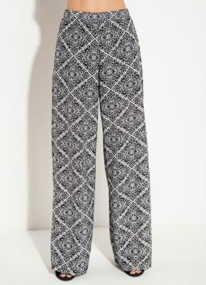 9127aa48bf Calça Pantalona Quintess com Elástico Lenço - Quintess