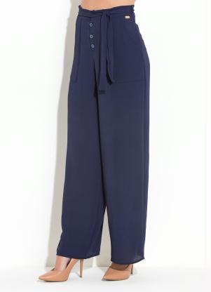 492f1fada Calça Quintess Azul com Forro em Shorts - Quintess