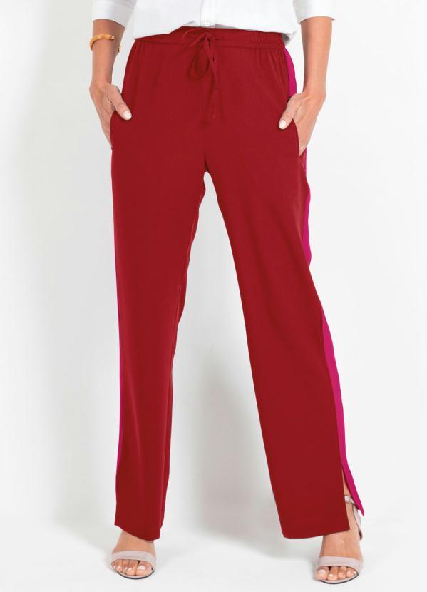 Calça Sideband Listra Lateral (Vermelho e Rosa)