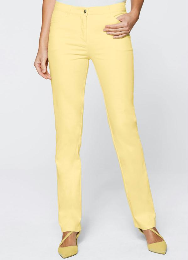 Calça de Sarja Color Reta (Amarela)