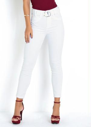 Calça Hot Pants (Branca) Sawary com Cinto