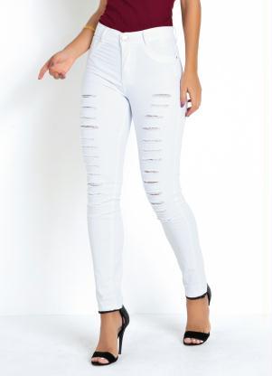 Calça Hot Pants Destroyed (Branca) Sawary