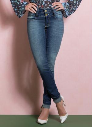Calça (Jeans) Skinny Cintura Alta Quintess