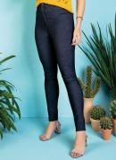 Calça Jeans Skinny com Bolsos Traseiros