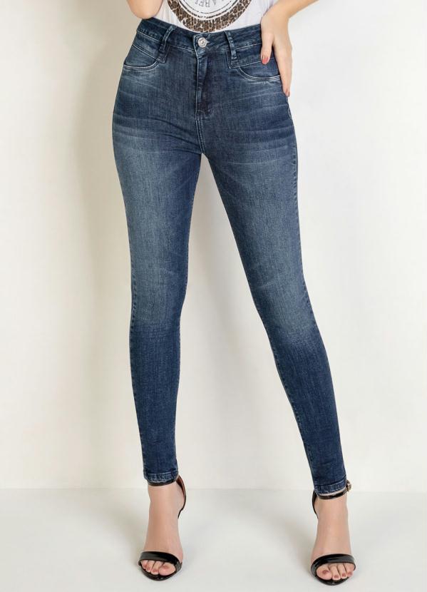 Calça Skinny (Jeans) com Recorte no Bolso Sawary