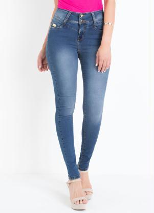 Calça Skinny Sawary (Jeans) Cintura Auto Ajuste
