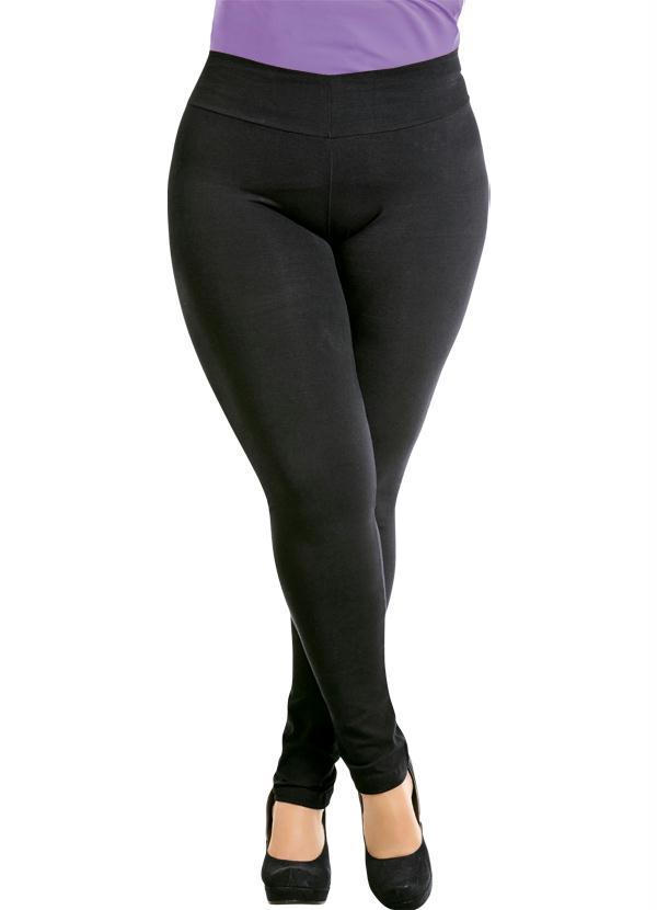 Calça Legging (Preta) Plus Size