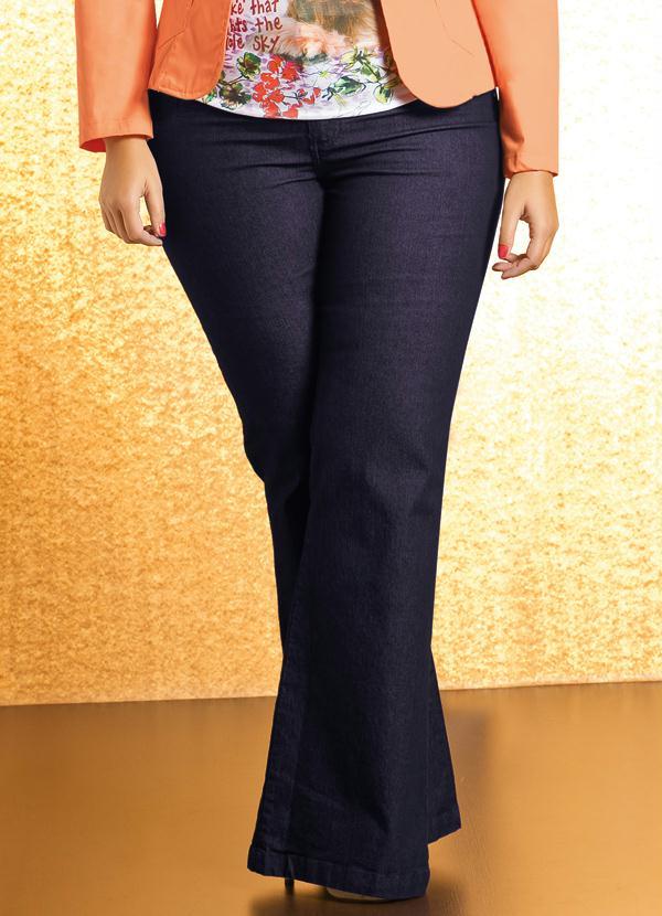 Calça Flare Plus Size (Jeans)