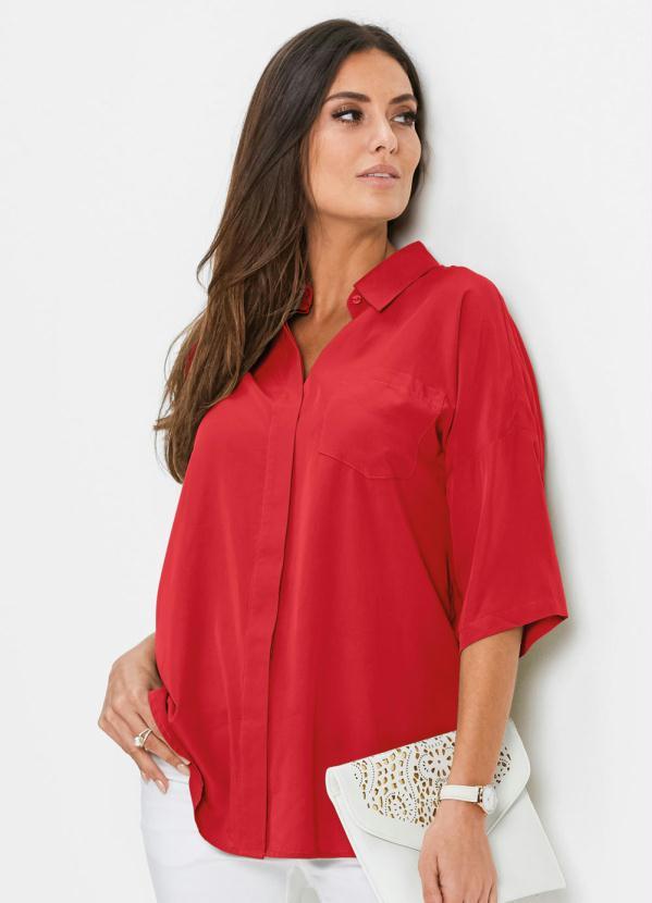 Camisa Oversized (Vermelha)