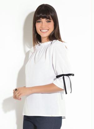Camisa (Branca) Quintess com Gola Franzida
