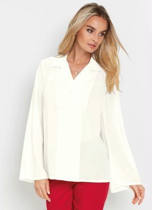 Camisa com Gola Transpassada (Branca)