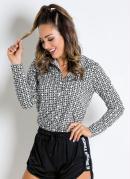 Camisa Manga Longa Geométrica