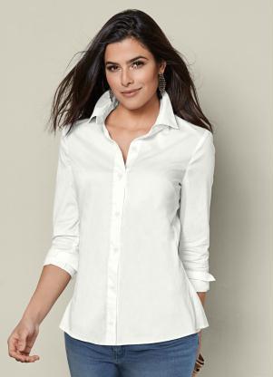 3a2dc1383 Camisa Social de Botões Branca - Quintess
