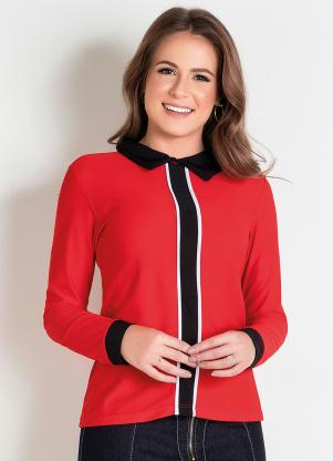 Camisa (Vermelha) Moda Evangélica