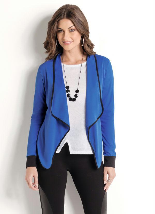 Casaco (Azul Royal) Frente Assimétrica