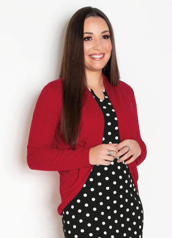 Casaco de Ribana (Vermelho) Moda Evngélica
