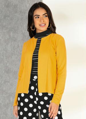 Casaquinho (Amarelo) com Recortes e Mangas Longas