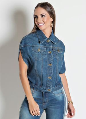 Capa Colete Sawaty em (Jeans)