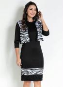 Conjunto com Recorte Zebra Preta Moda Evangélica