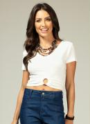 Cropped com Argola Off White