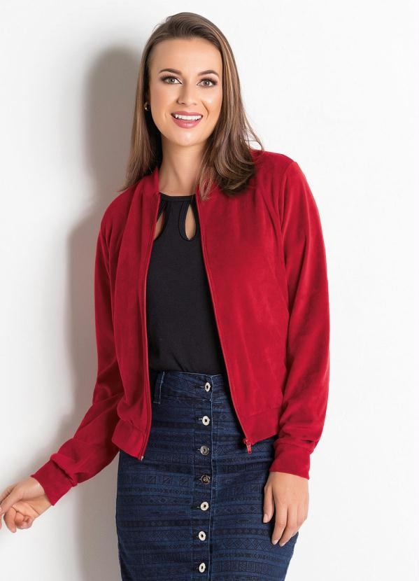 Jaqueta Bomber (Vermelha) Moda Evangélica