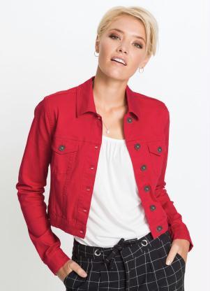 Jaqueta de Sarja Cropped (Vermelha)