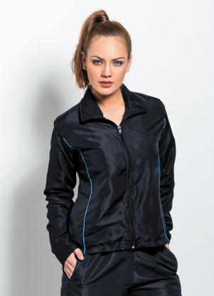 Jaqueta Esportiva (Preta) em Poliéster