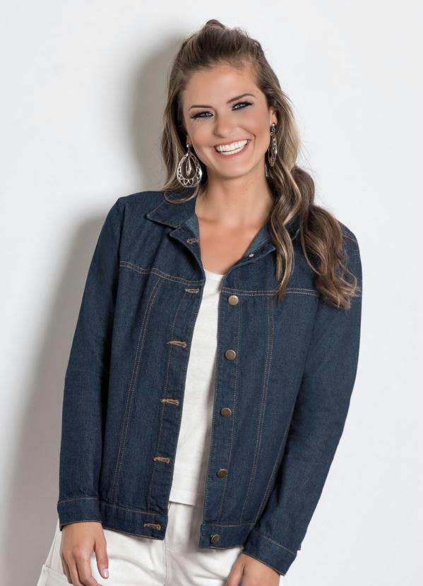 Jaqueta Jeans Básica (Jeans Escuro)