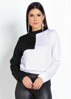 Casaco (Preto e Branco) Contrastante