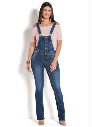 Jardineira Sawary com Botões (Jeans)