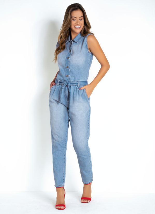Macacão Utilitário (Jeans) Sawary