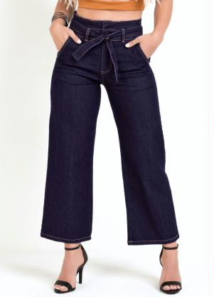 Calça Pantacourt Clochard (Jeans Escura) Sawary