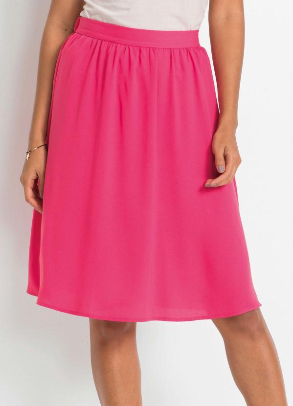 Saia de Chiffon (Rosa Pink)