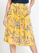 Saia Midi Ampla Floral Amarela