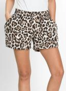 Short Animal Print Onça Marrom