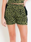 Shorts Athleisure Animal Print Verde