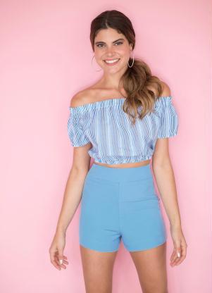 Short (Azul Claro) Alfaiataria