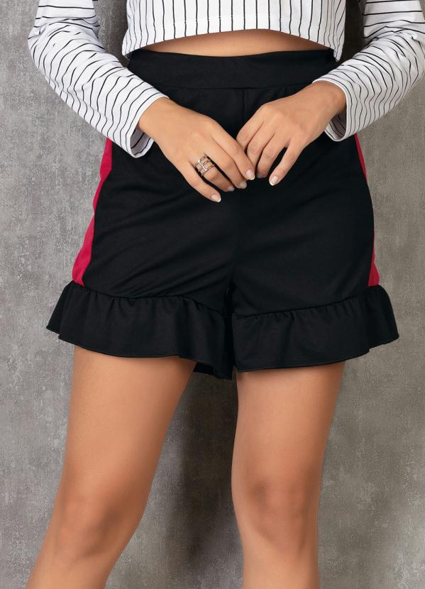 Shorts (Bicolor) com Babado