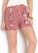 Shorts com Babado Floral Liberty