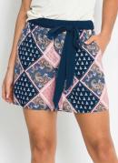 Shorts com Clochard Estampado Azul