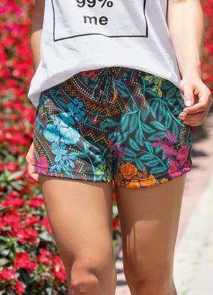 Shorts (Estampado) com Cordão Decorativo